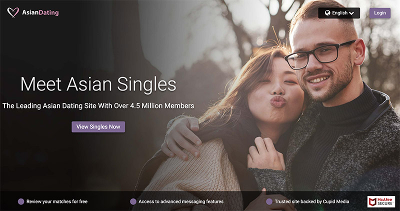 Asian dating homepage