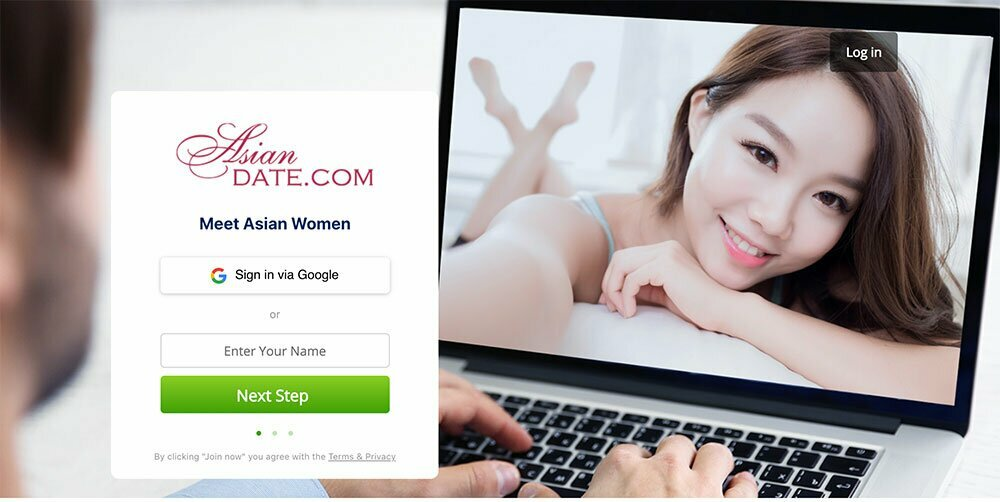 Asian date homepage