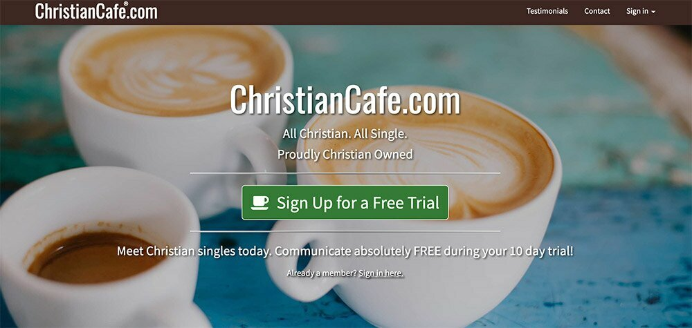 Christian Cafe homepage
